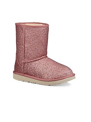 c138dd64f01 Ugg - Little Girl s   Girl s Ugg Classic II Short Glitter Boot