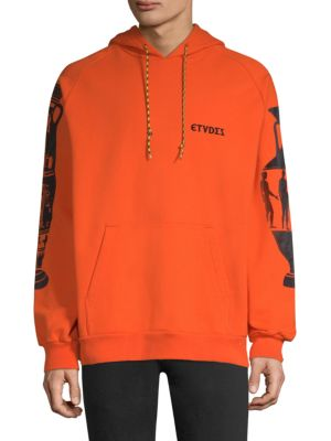 ETUDES STUDIO Odysseus Flocked Orange Sweatshirt