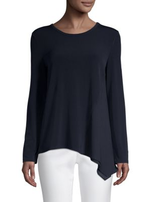 Asymmetric Long Sleeve Top by Donna Karan New York
