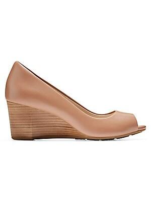 8c3f0ce330d4 Cole Haan - Sadie Peep Toe Wedge Heels - saks.com