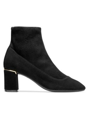 Laree Stretch Leather Booties by Cole Haan