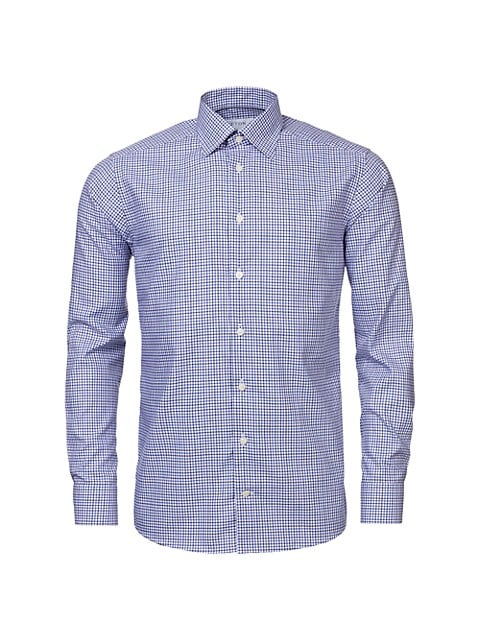 Contemporary-Fit Tattersall Check Shirt