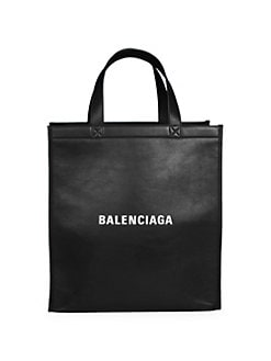 0bc3e053181 Product image. QUICK VIEW. Balenciaga. Leather Logo Shopper Bag