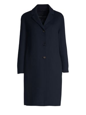 Tcube Wool & Angora Notch Collar Coat by Max Mara