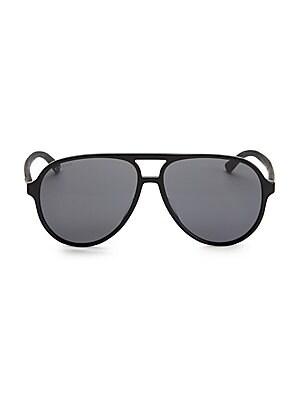d0d2b3cedbb Gucci - 60MM Acetate Aviator Sunglasses - saks.com