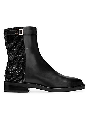 b47894105f8 Cole Haan - Lexi Grand Stretch Leather and Woven Ankle Boots - saks.com