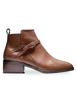 30cda3f8b7c Cole Haan - Etta Leather Booties - saks.com
