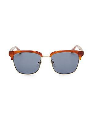 55650427eb Gucci - 56MM Round Havana Sunglasses - saks.com