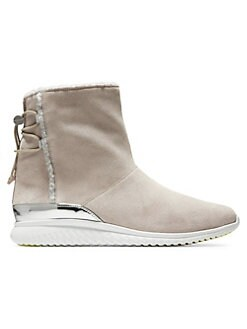 456b23124e4 Cole Haan. Studio Grand Faux Shearling-Lined Suede Ankle Boots