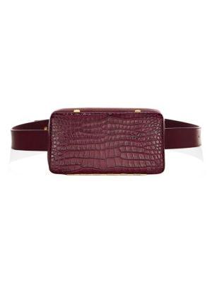 LUTZ MORRIS Even Convertible Leather Belt Bag in Burgundy