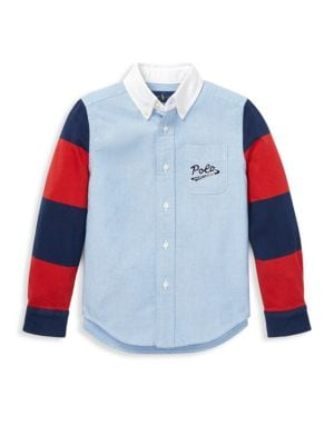 Little Boy's & Boy's Novelty Button Down Shirt by Ralph Lauren