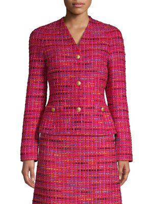 ESCADA SPORT Multicolor Tweed Jacket in Shock Pink