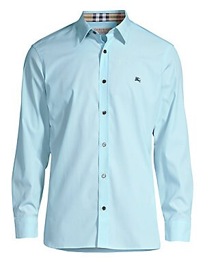 873faa82 Burberry - William Check-Accent Cotton Sport Shirt