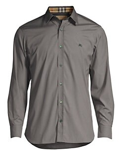 389ebc0c Burberry. William Check-Accent Cotton Sport Shirt