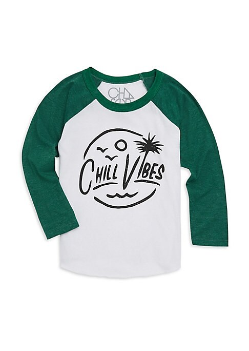 Image of Classic baseball tee feature graphic lettering and imagery. Crewneck. Long sleeves. Pullover style. Cotton/polyester. Machine wash. Imported.