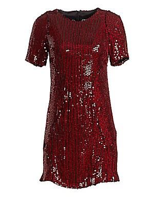 7ae31ed14bf3 Tanya Taylor - Penelope Stripe Sequin Shift Dress - saks.com