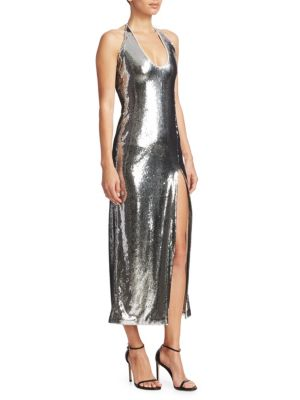 Chrome Ellipse Dress in Silver
