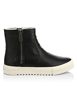 Gia Shearling Lined Leather High Top Boots by Frye