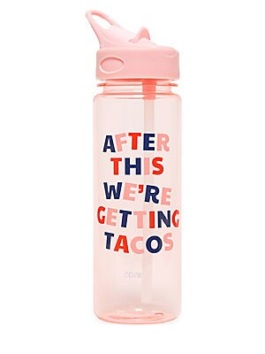 "Image of On-the-go hydration! This acrylic water bottle has an easy-to-carry plastic lid with removable (a breeeeze to clean!) silicone mouthpiece. PC hard plastic/acrylic Hand wash Imported SIZING Height, 7.75"" 24 oz. capacity. Gifts - Books And Music > Saks Fift"