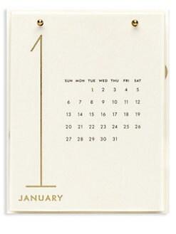 Kate Spade New York. Gold Dots Desktop Calendar