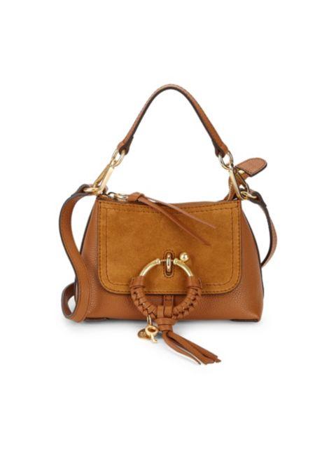 See by Chloé Mini Joan Suede & Pebbled Leather Hobo Bag   SaksFifthAvenue