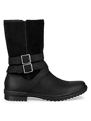 da94ef34246 Ugg - Women's Lorna Faux Fur Leather and Suede Boots