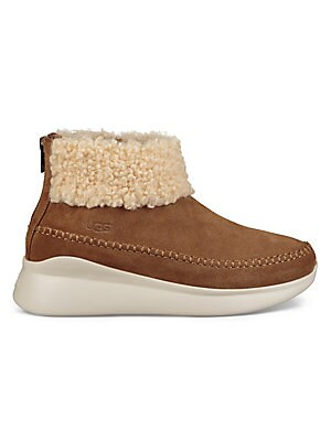 700ce4d44e0 Ugg - Kristin Slim Short Sheepskin Wedge Boots - saks.com