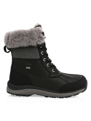 Adirondack Iii Shearling Quilted Boots in Black