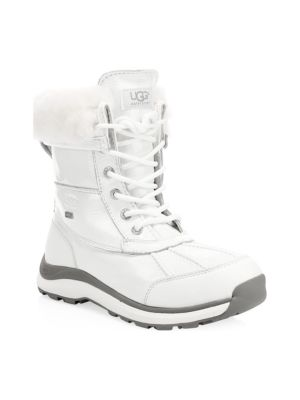 Uggpure Patent Adirondack Boots in White