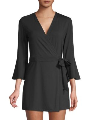 LILLY PULITZER Karlie Wrap Romper in Onyx