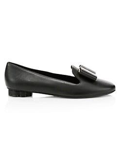 3d86054c2a21 Salvatore Ferragamo. Sarno Bow Leather Shoes