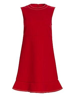 55fe9415d7c REDValentino - Pleated Lace Tulle A-Line Midi Dress - saks.com