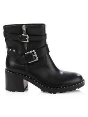 Xenon Studded Leather Ankle Boots by Ash