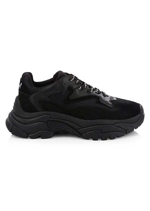 Image of From the Saks IT LIST. THE CHUNKY SNEAKER. Get your kicks in the sole that stormed the runways. Mixed media sneakers feature a lace-up vamp. Mesh and leather upper. Round toe. Lace-up vamp. Textile lining. Rubber sole. Imported.
