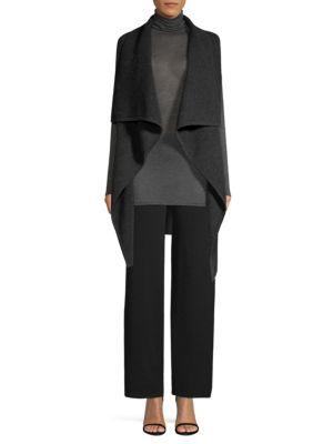 TSE X SFA Draped Cashmere Vest in Charcoal