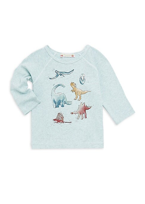 Image of Adorable dino graphic tee in soft, 100% cotton. Crewneck. Long sleeves. Seamed detail. Pullover style. Cotton. Machine wash. Portugal.