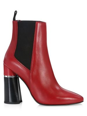 Drum Leather Chelsea Boots in Rouge