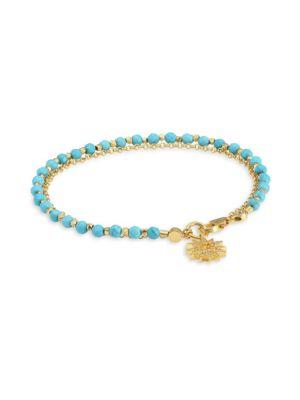 Astley Clarke 18K Goldplated Turquoise & White Sapphire Sun Bracelet