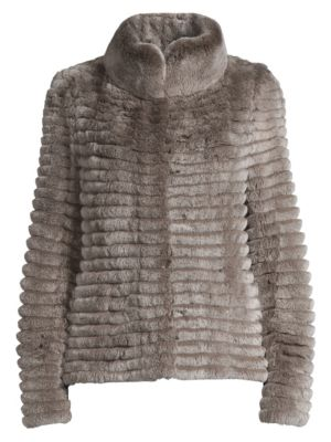 Glamourpuss Rabbit Fur Knit Jacket