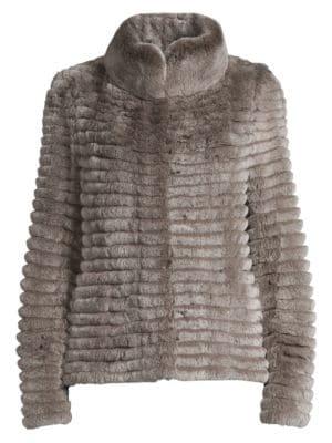 Glamourpuss Rabbit Fur Knit Jacket