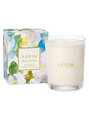 Image of A paired back, smaller version of the original Sintra Gardenia scented candle, which was inspired by the exquisite town of Sintra in Portugal, sitting amidst pine-covered hills. Its fragrance captures the exotic gardens and location with fragrant Lush Gar