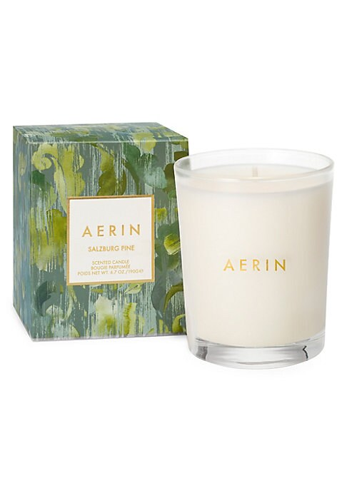 Image of A paired back, smaller version of the original Salzburg Pine scented candle, which was inspired by Salzburg, Austria, a city of spires, Mozart, and baroque architecture surrounded by soaring peaks that offer beautiful alpine views. Its fragrance captures