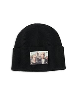 83d6663c016 Palm Angels. Wool Cotton American Gothic Beanie