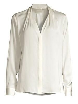 80ced8749696 Equipment - Slim Signature Silk Shirt - saks.com
