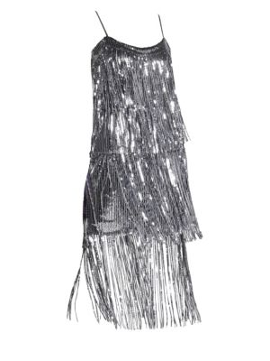 Roxy Sequin Fringe Dress by Dress The Population
