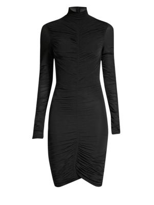 Olivia Ruched Turtleneck Dress by Diane Von Furstenberg