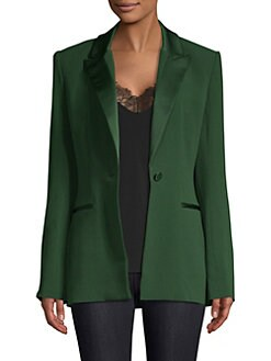 52ab4939f4ef Product image. QUICK VIEW. Diane von Furstenberg. Peak Lapel Button Blazer