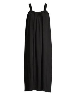 Kimber Organic Pima Cotton-Jersey Nightdress in Black
