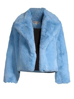 Faux-Fur Short Jacket, Polar
