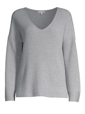 SKIN Woman Veronica Ribbed Cotton-Blend Sweater Light Gray